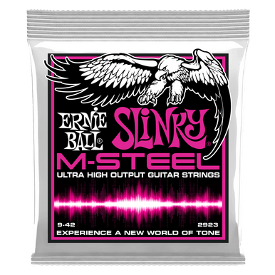 Ernie Ball Super Slinky M-Steel Electric Guitar Strings - 9-42 Gauge