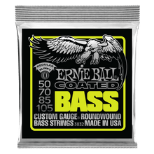 Ernie Ball Regular Slinky Coated Electric Bass Strings, 50-105 Gauge