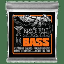 Ernie Ball Hybrid Slinky Coated Electric Bass Strings, 45-105 Gauge