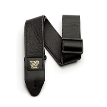 Ernie Ball 2 inch Tri-Glide Italian Leather Strap, Black