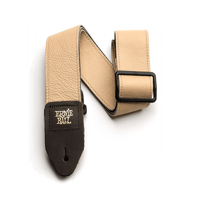 Ernie Ball 2 inch Tri-Glide Italian Leather Strap, Tan