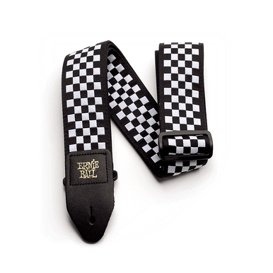 Ernie Ball Black and White Checkered Strap