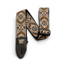 Ernie Ball Tribal Jacquard Guitar Strap, Brown