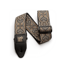 Ernie Ball Gold and Black Paisley Jacquard Strap