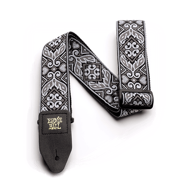 Ernie Ball Tribal Jacquard Guitar Strap, Silver