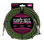 Ernie Ball 7.5 Meter Braided Straight / Angle Instrument Cable, Black / Green