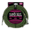 Ernie Ball 3 Meters Braided Straight / Angle Inst Cable, Black/Green