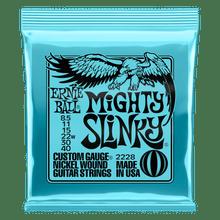 Ernie Ball Mighty Slinky Nickel Wound Electric Guitar Strings 8.5 - 40 Gauge