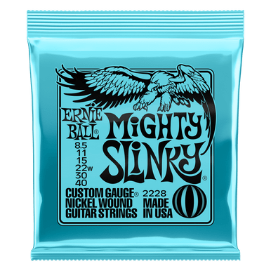 Ernie Ball Mighty Slinky Nickel Wound Electric Guitar Strings 8.5 - 40 Gauge