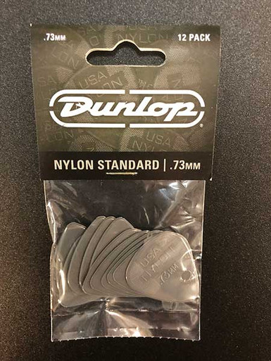 Jim Dunlop Nylon Standard Pick Pack 73mm 12 pack