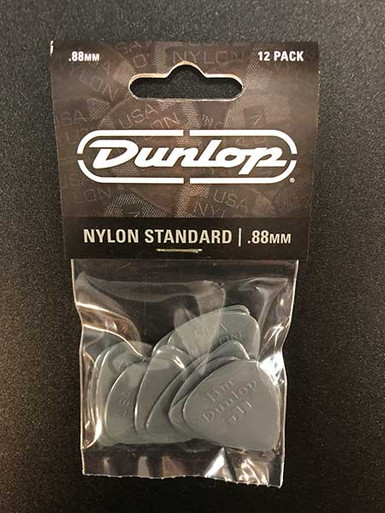 Jim Dunlop Nylon Standard Pick Pack 88mm 12 pack