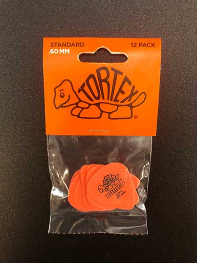 Jim Dunlop Tortex Standard Pick .60mm Pack of 12