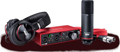 Focusrite Scarlett 2i2 Recording interface Studio set up bundle
