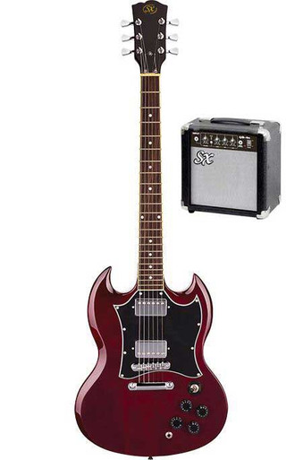 SX SG Electric Guitar Package with Amplifier