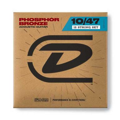 Dunlop Acoustic Guitar 12 strings 10-47 Light Phosphor Bronze