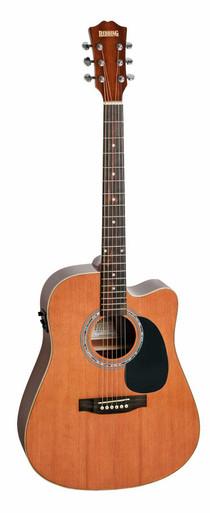 Redding Cedar Top Dreadnaught Semi Acoustic Guitar