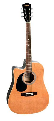 Redding Cedar Top Dreadnaught Semi Acoustic Left Handed Guitar