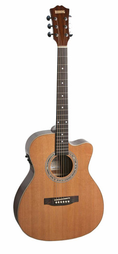 Redding Cedar Top Small Body Semi Acoustic Guitar
