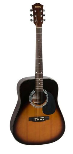 Redding Spruce top Acoustic Dreadnaught Guitar sunburst colour