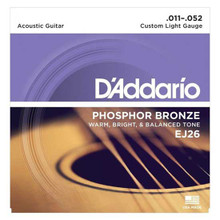 D'Addario Phosphor Bronze Acoustic Guitar Strings Custom Light 11-52