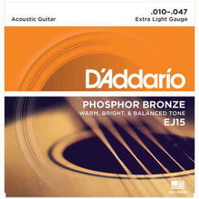 D'Addario Phosphor Bronze Acoustic Guitar Strings Extra Light 10-47