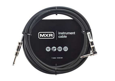 MXR 10 Foot Instrument cable One Right Angle Jack
