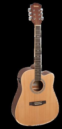 Redding Spruce Top Dreadnaught Semi Acoustic Guitar