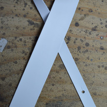 "White 2.5"" Leather Guitar Strap"