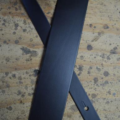 "Black 2.5"" Leather Guitar Strap"