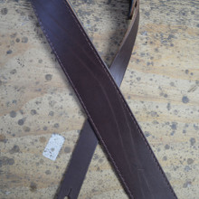 "2.5"" Sueded Brown Solid Hide Leather Guitar Strap"
