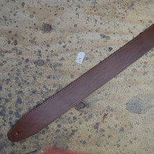 "2.5"" Sueded Tan Solid Hide Leather Guitar Strap"