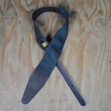 "3.5"" Leather & Cotton Webbing Guitar Strap"