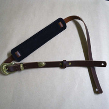 Brown 50's Style Leather Guitar Strap