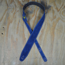 Blue Double Suede Guitar Strap