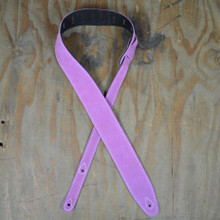 Lilac Double Suede Guitar Strap