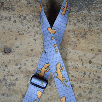 Gecko Printed Webbing Guitar Strap