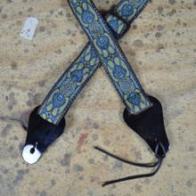 Blue Jacquard Ukulele Strap