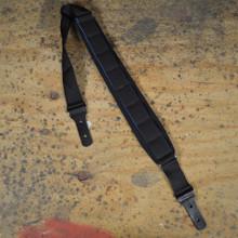 Black Neoprene Padded Long Guitar Strap