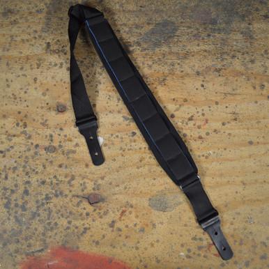 Black Neoprene Padded Extra Long Guitar Strap