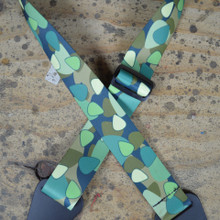 Pick Camouflage Printed Webbing Guitar Strap