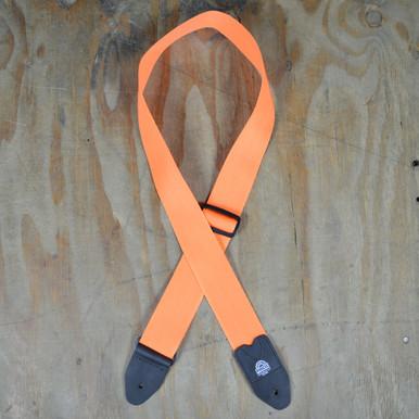 Orange Webbing Guitar Strap
