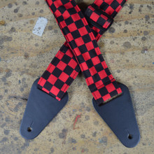 Red & Black Check Rag Guitar Strap