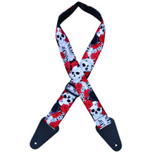 Rose & Skeleton Rag Guitar Strap