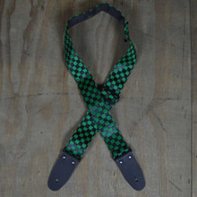 Green & Black Checker Guitar Strap
