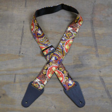 Aboriginal Art Guitar Strap - Beetles