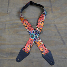 Aboriginal Art Guitar Strap - Kangaroo Ground
