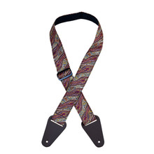 Aboriginal Art Guitar Strap - Spirit Dreaming Brown