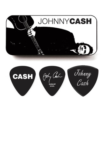 Johnny Cash Pick tin and 5 Picks