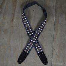 Black Jacquard 50mm Webbing Guitar Strap