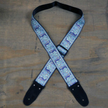 Pale Blue Jacquard 50mm Webbing Guitar Strap